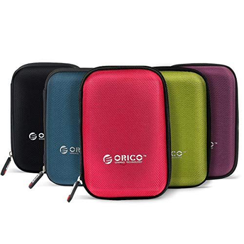 ORICO Hard Drive Case 25inch External Drive Storage Carring Bag for WD My Passport Element Seagate Toshiba Samsung T5 25quot HDD 5 Pack