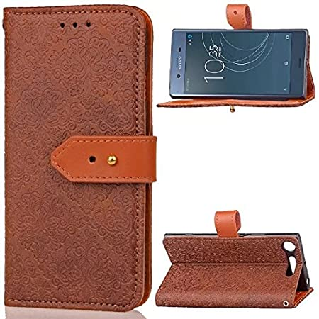 Zhusha Mobile phone case, Sony XZ1 Case,Magnetic Closure European Style Mural Embossed PU Leather Flip Wallet Case With Stand And Card Slot For Sony Xperia XZ1 ( Color : Purple )