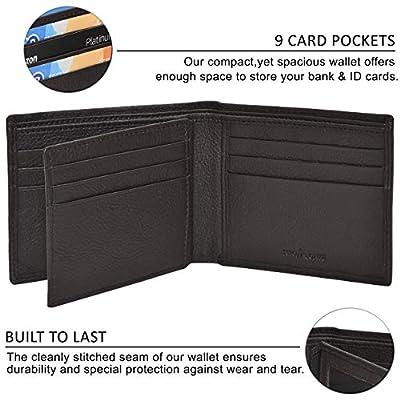 Wallets for men Bifold Wallets- Rfid wallet wallets for men Slim wallet leather wallet