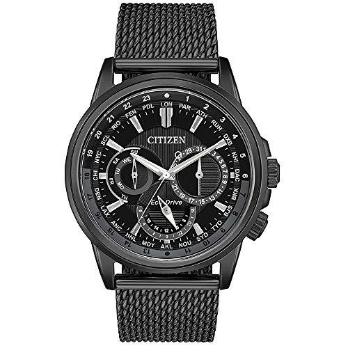Citizen Calendrier Eco-Drive Black Dial Men's Watch BU2025-76E (Citizen 44mm)