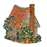 Jiaheyou Handmade Church House Jeweled Metal Enamel Trinket Jewelry Boxes Organizers Collectibles