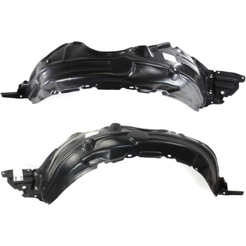 Fender Liner Compatible with 2007-2012 Toyota Yaris Front Left /& Right Side Sedan Set of 2