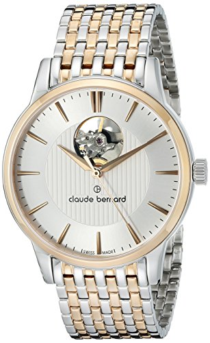 Claude Bernard Men's 85017 357RM AIR Automatic Open Heart Analog Display Swiss Automatic Two Tone Watch