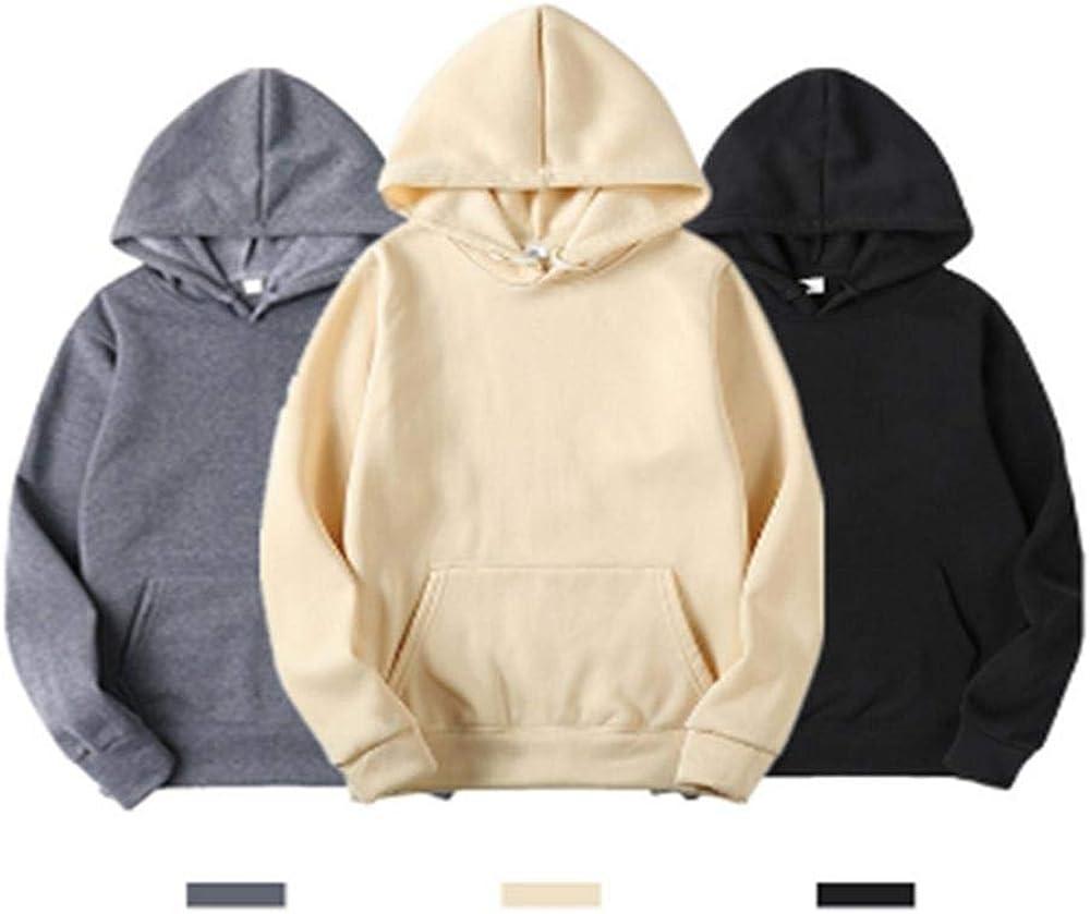 AJYJ Hoodies Frühling Herbst Männliche Freizeit Sweatshirts Einfarbig Laufen Tops Outdoor Street Alltagskleidung S