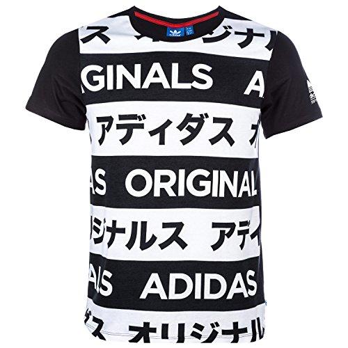 adidas Originals Allover Typo Print–Camiseta aa2486 Mehrfarbig - Schwarz / Weiß