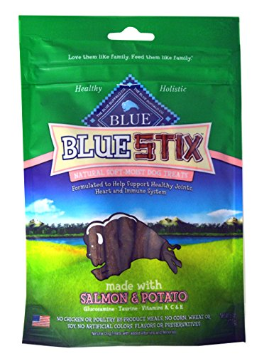 Blue-Buffalo-Blue-Stix-Soft-Moist-Dog-Treats-Varity-Pack-4-Different-Flavors-Beef-Potato-Lamb-Apples-Salmon-Potato-and-Chicken-Brown-Rice-6-Ounces-Each-4-Total-Pouches