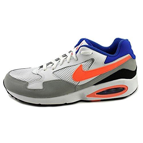 Nike Heren Air Max St Enkelhoge Leren Sportschoen Wit / Grijs / Oranje / Blauw