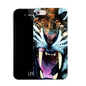 New Hard Printed Pattern case for iPhone 5 - angry tiger & STYLUS by ruishername