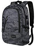 Camo Backpack, Camouflage Travel Laptop Backpack for Travel Accessories, Lightweight Anti-Theft Durable School Bag with Charging Port, Outdoor Daypack for Men Women Boys Girls, Fit 15.6 Inch Notebook