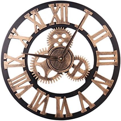 HZDHCLH 24 Inch Large Wall Clock Decorative,European Retro Clock