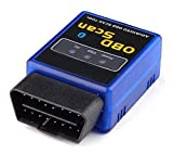 OBDII,Onshowy Bluetooth OBD2 scan tool OBD2 Bluetooth Adapter Car Diagnostic Scanner Code Reader Check Engine Light for Android ONLY-Compatible with Torque Pro