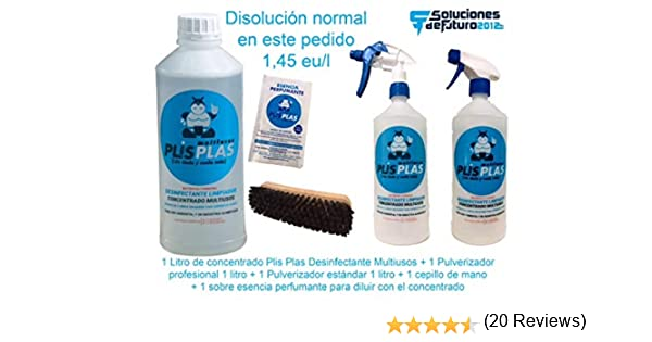 PLIS PLAS Desinfectante Concentrado Multiusos H.A. - SIN LEJIA ...