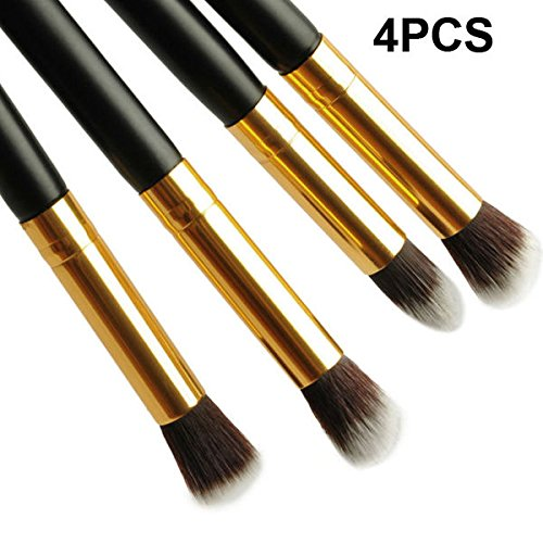 Black Pro Cosmetic Makeup Tool Eye Shadow Foundation Blending Brush Double Side
