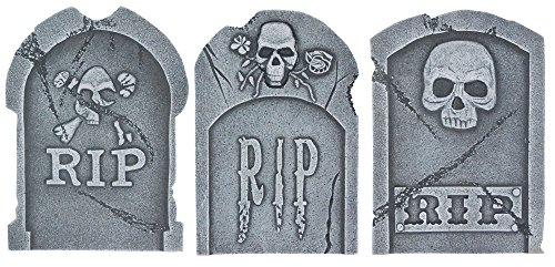 Decorative Foam Tombstone 15in Halloween Decoration-Assorted (Choices may vary) (Foam Tombstone)