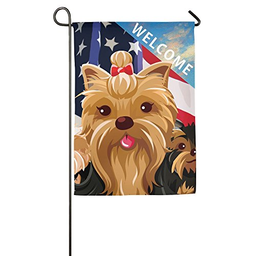 Tomboy Yorkie Dog Garden Flags Welcome Outdoor Yard Flag 12