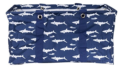 Wireframe All Purpose Large Utility Bag (Navy Blue Sharks)