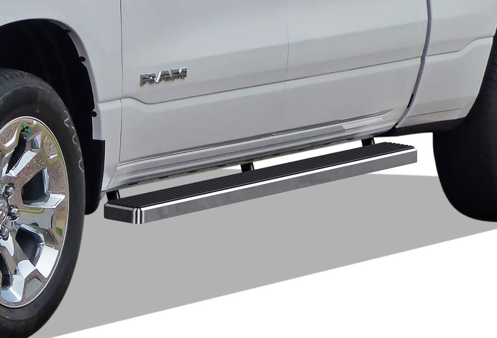 APS iBoard (304 Stainless Steel Polished Silver 5 inches) Running Boards Nerf Bars Side Steps Compatible with 2019-2020 Ram 1500 Crew Cab Pickup 4Dr for New Body Style Only (Will Not Fit 2018 Model)