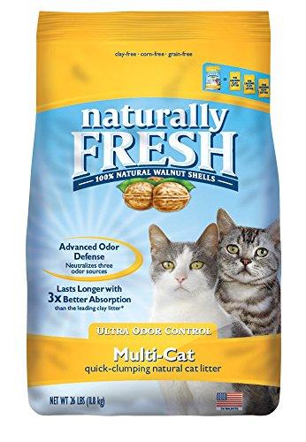 Naturally Fresh Cat Litter - Walnut-Based Quick-Clumping Kitty Litter,...