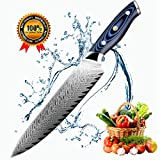 XITUO 8-inch Professional Damascus Chef's Knife Japanese AUS10 Steel Full Tang Kitchen Knife With Ergonomic Handle, Stain & Corrosion Resistant, Best Gift For Kitchen Cooking