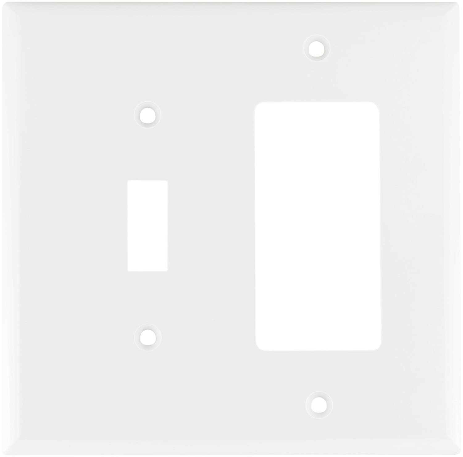 eaton 2153wbox standard size 2gang thermoset toggle and decorator combo wall plate