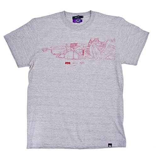 EVANGELION T-shirt 1.0 FTC ×intheyellow × RADIO EVA (S  グレー)の商品画像