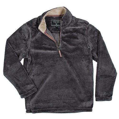 True Grit Men's Pebble Pile 1/4 Zip Pullover, Harley Black, X-Small by True Grit