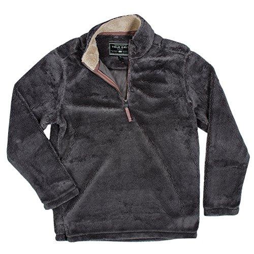 True Grit Men's Pebble Pile 1/4 Zip Pullover, Harley Black, X-Small by True Grit (Image #1)