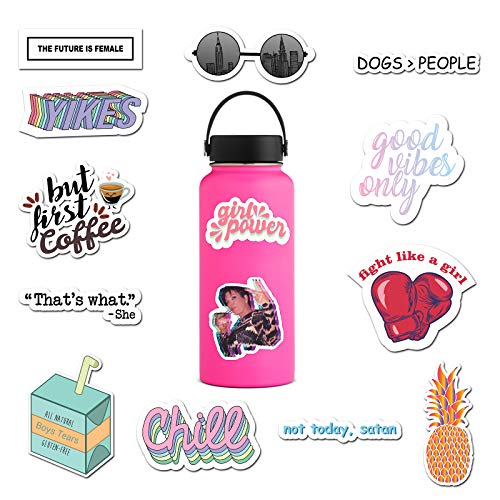 (14 Pack) Cute Computer Stickers for Teens, Girls, Women, Feminists - Stickers for Water Bottles, Hydro Flask, iPhone, Laptop | Premium Water Bottle Stickers and Decals by RipDesigns (Series 2) (Bottle Stickers)