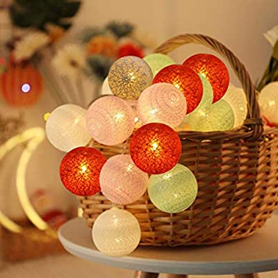 Colored Led Decorative String Lights, Multicolored Hang String Lights with 20 LED Battery Operated for Indoor Patio Home Garland, Garden Decorations : Garden & Outdoor