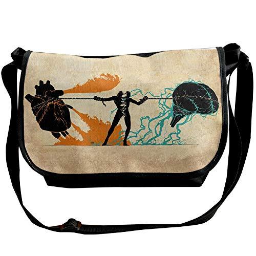 Black Brain Bag Designer A Tearing Fashion Bags Handbag Crossbody Heart Person Travel And Versipacks Women's 6U1xqwa