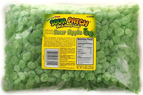 Sour Patch Kids Soft and Chewy Gummy Candy, Assorted, 5 Pound