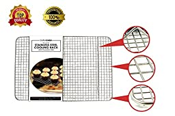 Baking Rack - Cooling Rack - Stainless Steel 304 Grade Roasting Rack - Heavy Duty Oven Safe, Commercial Quality Cooling Racks For Baking - Metal Wire Grid Rack Design - Lifetime Guarantee (10\