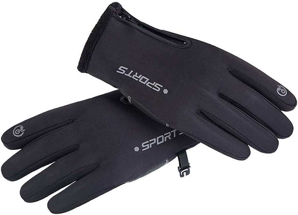 OHQ Skihandschuhe Herren Damen Handschuhe Touchscreen Handschuhe Winterhandschuhe Winddicht Wasserdicht Handschuhe Thermo Lederhandschuhe Sporthandschuhe mit Fleecefutter Snowboardhandschuhe