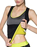 IFLOVE Women's Body Shaper Hot Sweat Slimming Sauna Vest Neoprene Shapewear for Tummy Fat Burner Weight Loss M