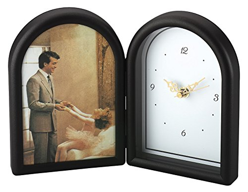 Upper Gifts Lacquer Picture Frame with Clock - Holds 5x7 Photo