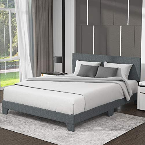 Allewie Queen Size Upholstered Platform Bed Frame