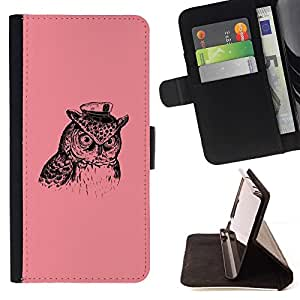 DEVIL CASE - FOR Apple Iphone 6 PLUS 5.5 - Captain Owl - Style PU Leather Case Wallet Flip Stand Flap Closure Cover