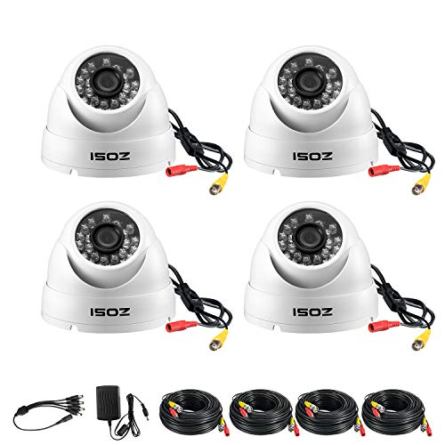ZOSI 4 Pack 1080p Dome Camera Kit (Hybrid 4-in-1 HD-CVI/TVI/AHD/960H Analog CVBS),2.0MP (1920TVL) Day Night Weatherproof CCTV Security Camera Outdoor Indoor,Night Vision Up to 65FT(20M)
