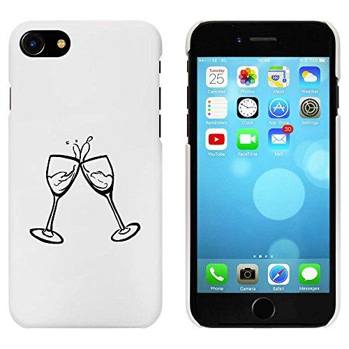 Blanc 'Verres à Vin' étui / housse pour iPhone 7 (MC00064688)