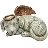 Windhaven Urns Pet Memorial Angel Dog Sleeping Cremation Urn Memorial Statue Bottom Load 30 Cubic Inch Review