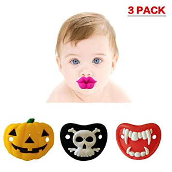 Amazon.com: Bonito chupete con boca de labios, divertido ...