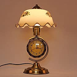 DIDIDD Continental retro lamps creative minimalist modern decor clocks lamps bedroom study personality dimming bedside lamps