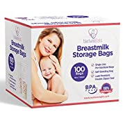 Nurture Right Breastmilk Storage Bags, 6oz / 180ml Pre-Sterilized & BPA-FREE Bags, 100 Count