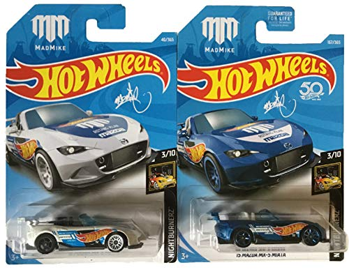 Hot Wheels  2018 '15 Mazda MX-5 Miata 2 Pack (Best Wheels For Mx5)