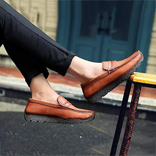 de Zapatos la YaXuan la Cuero Primavera de los los Do Negocio Hombres caída de de los conducción para de de Hombres Holgazanes Ocasionales del Planos Zapatos Zapatos qZ70nfqU