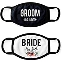 Pretty Phoxie Trendy Face Masks - Adult Face Mask - Public Face Cover - Bride and Groom Face Mask Set - Wedding Face Masks