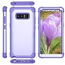 Phone Case For Galaxy Note 8 Case Bumper Slim Shock Absorption Dust Resistant Style Fit Dual Layer Protective Cover Hybrid Durable Impact Defender Combo Pc Silicon Kickstand Anti Scratch Rugged