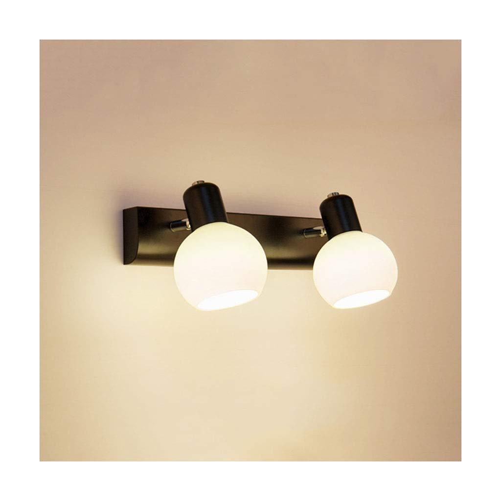 Two Heads William 337 Spiegel Scheinwerfer Make-Up Lampe Badezimmer Lampe Badezimmer Schlafzimmer Wandlampe Schlafzimmer Lampe [Energieklasse A +] (Farbe   Two heads)