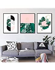 Nordic Art Poster Print Plant Canvas Painting Picture Wall Art Home Decoration-50x70cmx3 pcs no Frame
