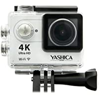 Yashica YAC-401 12MP 4K UHD Action Camera with Wi-Fi, 170 Degree Lens, Silver